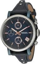 Fossil Women's ES4113 Original Boyfriend Sport Chronograph Leather Watch