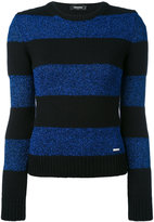 DSQUARED2 striped knitted top - women - Polyester/Virgin Wool/Polyimide - XS