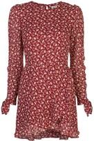 Reformation Lucita floral wrap-style dress