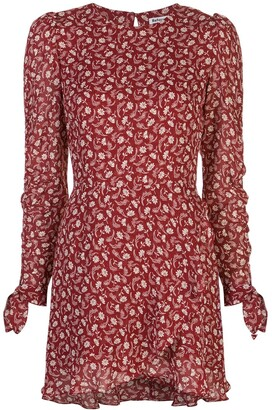 Reformation Lucita floral wrap-style dress