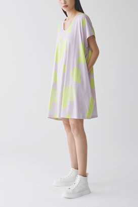 Cos Organic Cotton V-Neck Relaxed A-Line Dress