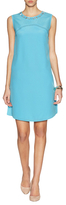 Magaschoni Silk Inset Embellished Shift Dress