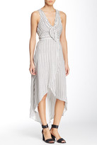 BCBGeneration Striped Woven Hi-Lo Dress