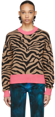 MSGM Beige Tiger Sweater