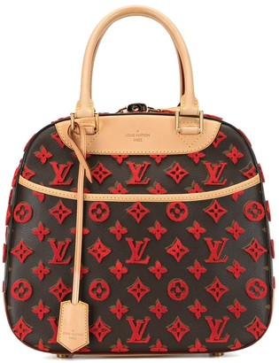 Louis Vuitton 2013 pre-owned Limited Edition Rouge Monogram Tuffetage Deauville Cube bag