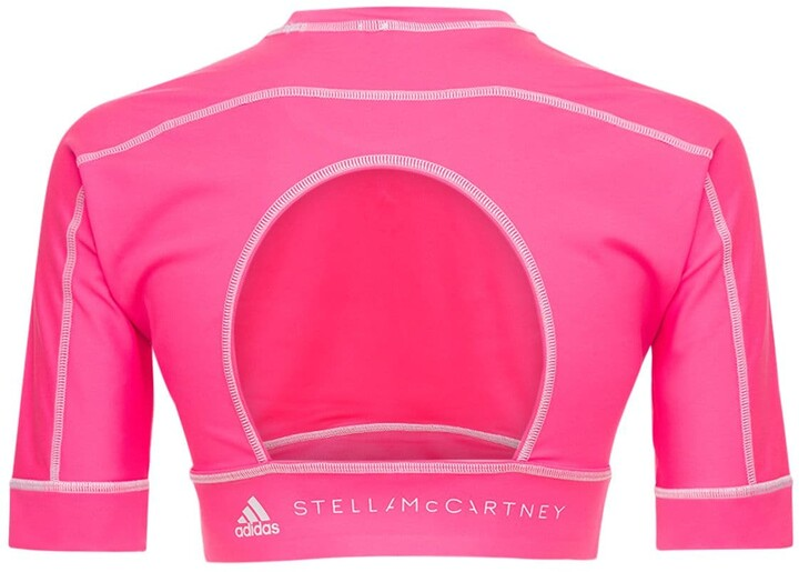 Thumbnail for your product : adidas by Stella McCartney Asmc Truestrength Yoga Crop Top