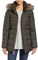 MICHAEL Michael Kors Women's Hooded Down & Feather Fill Coat With Faux Fur Trim