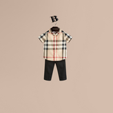 Burberry Check Cotton Twill Shirt