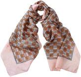 D Lux Benson Hand Printed Silk Oblong Scarf