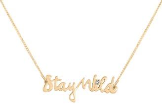 Lee Renee Stay Wild Necklace Diamond & Gold Vermeil