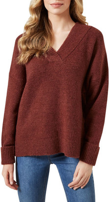French Connection Chunky V Neck Knit
