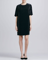 Vince Loose Texture-Block Dress