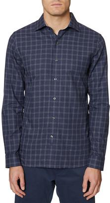 Hickey Freeman Plaid Shirt