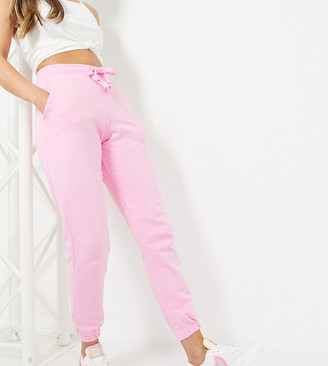 Collusion skinny track pants in pink