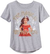 "Disney Disney's Elena of Avalor Girls 7-16 ""The Magic is Within You"" Glitter Graphic Tee"
