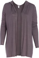 Bellino Charcoal Hooded Open Cardigan - Plus Too