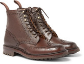 Cheaney - Tweed C Pebble-grain Leather Wingtip Brogue Boots