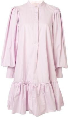 Roksanda Oversized Sleeve Tiered Waist Dress