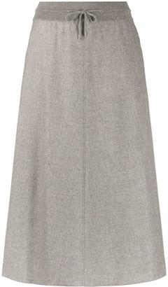 Loro Piana Drawstring Waist Midi Skirt
