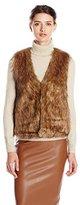 Jack by BB Dakota Women's Castleton Faux Coyote Fur Vest