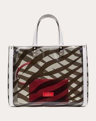 Valentino Small Zebra Print Tote Bag Women Silver 100% Pelle Di Vitello - Bos Taurus OneSize