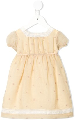 Gucci Kids Embroidered Organza Day Dress