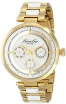 Kenneth Cole New York Women's KC4988 Transparency Round Multi-Function Transparent Yellow Gold Bracelet Watch