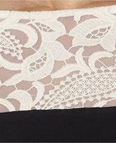 Lauren Ralph Lauren Cap-Sleeve Colorblocked Illusion Dress