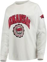 Unbranded Women's White Arkansas Razorbacks Edith Long Sleeve T-Shirt