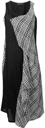 Yohji Yamamoto patchwork A-line dress