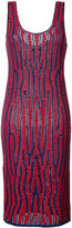 Proenza Schouler knit pencil dress - women - Cotton/Leather/Polyamide/Rayon - S