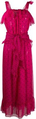 Yves Saint Laurent Pre-Owned Polka Dotted Ruffled Dress