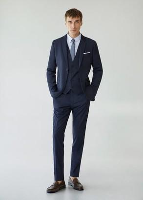 MANGO MAN - Super slim fit suit gilet dark navy - 36 - Men