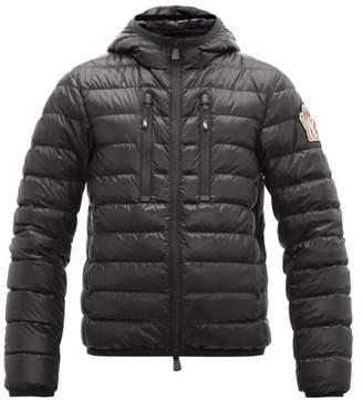 Moncler Kavik Embroidered-logo Quilted-down Jacket - Mens - Black