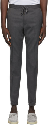 Ermenegildo Zegna Grey Elastic Waist Dress Trousers