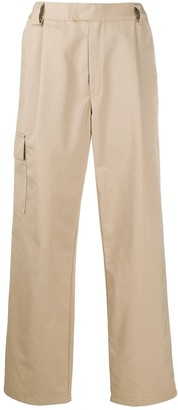 GR10K Cargo Pocket Wide-Leg Trousers