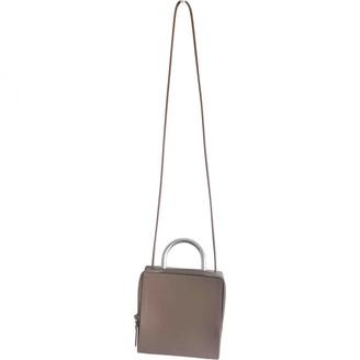 Building Block Grey Leather Handbags