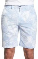 Bugatchi Floral Stripe Shorts