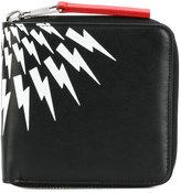 Neil Barrett lightning bolt wallet - men - Leather - One Size
