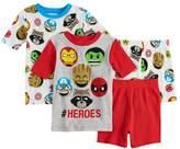 Marvel Boys 4-10 Heros 4-Piece Pajama Set