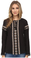 Maison Scotch Long Sleeve Beachy Top w/ Embroideries