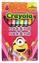Crayola 8ct Minions Crayons - Rock n' Roll