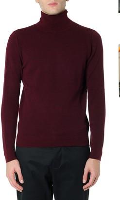 Zanone Burgundi Cotton & Wool High Neck Sweater