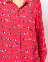 Asos Exclusive Shirt In Bird Print