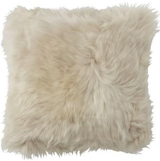 L.L. Bean L.L.Bean Sheepskin Throw Pillow, Square