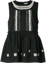 Suno ruffled sleeveless blouse - women - Cotton - 6