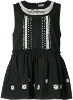 Suno ruffled sleeveless blouse