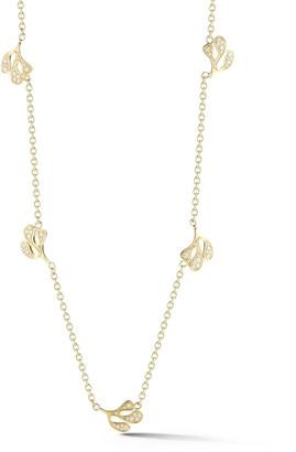 Miseno Sea Leaf 18k Gold Diamond Station Necklace