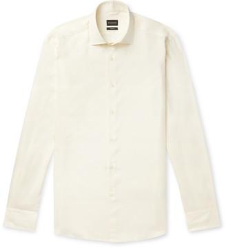 Ermenegildo Zegna Ecru Silk Shirt