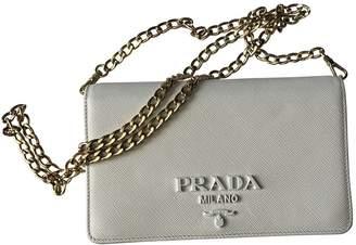Prada White Leather Clutch bags